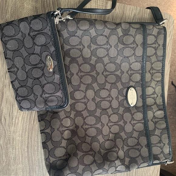 Coach crossbody & wallet bundle